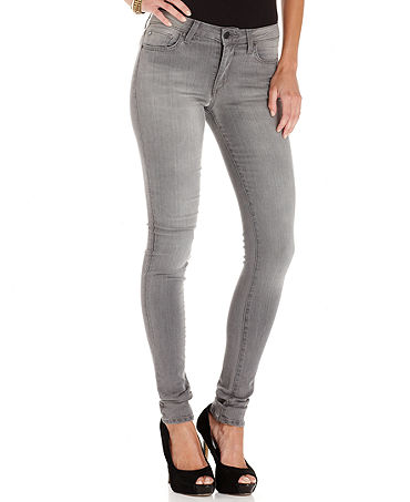 Womens Gray Skinny Jeans Billie Jean