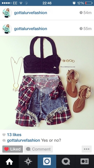 blouse summer cute denim shorts style summer outfits summer idea ootd tumblr tumblr fashion celebrity style cute necklace jewelry necklace hipster hollywood la bra ring sandals shoes