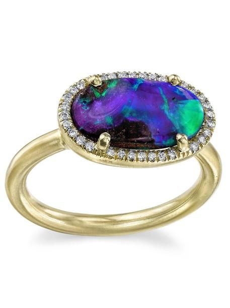 Irene Neuwirth diamond ring women opal ring blue jewels