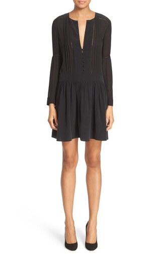 dress pleated dress black dress little black dress pleated v neck