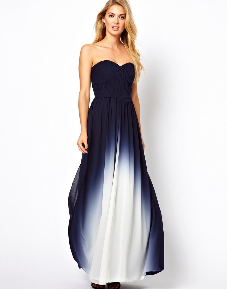 Dip dye maxi dresses