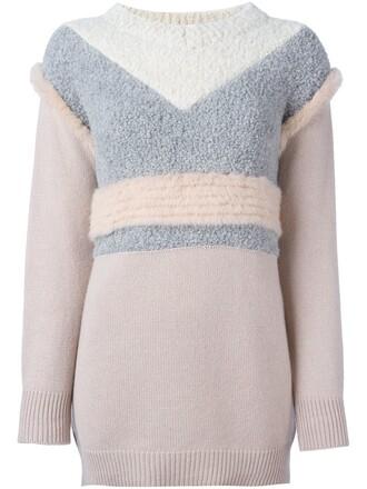 jumper women spandex silk wool purple pink sweater