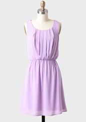 dress,mini dress,sleevless,lilac,pastel,spring,purple,ruche