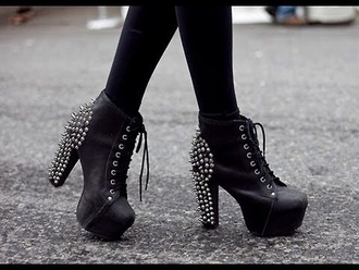 shoes studs lace up heels black heels