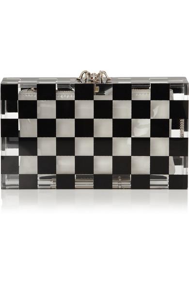 Charlotte Olympia|Pandora Squared Perspex box clutch|NET-A-PORTER.COM