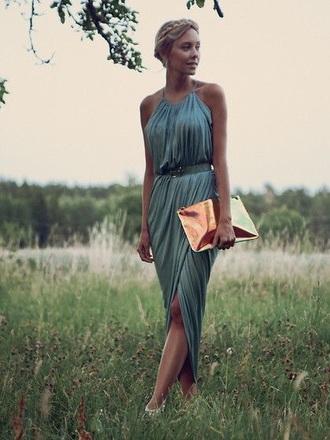 dress wrap dress green dress blue dress high low dress pleated dress