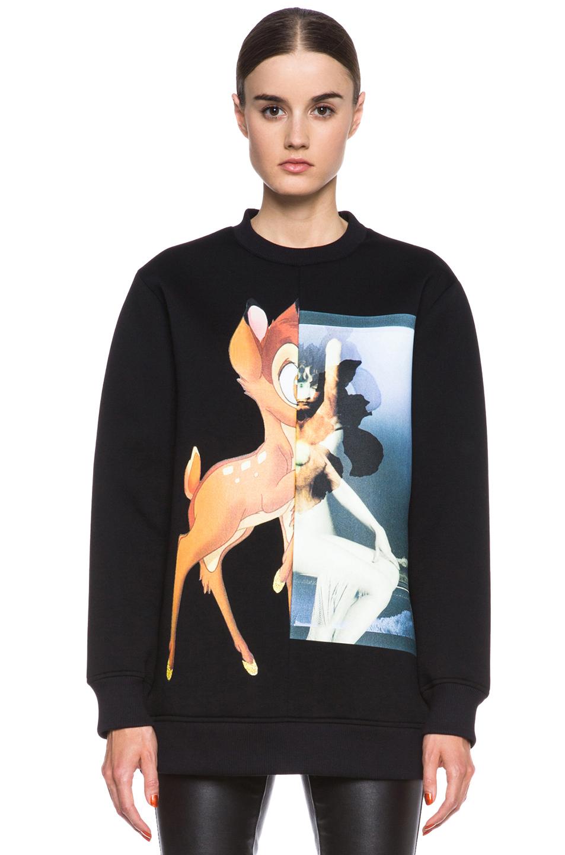 GIVENCHY | Bambi Print Viscose Sweatshirt in Black
