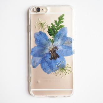 phone cover iphone samsung samsung case cute trendy gift ideas blue blue flowers love cool girl real flowers floral flowers shabibisheep iphone case iphone 5 case girlfirend gift birthday gift pressed flowers floral accessories
