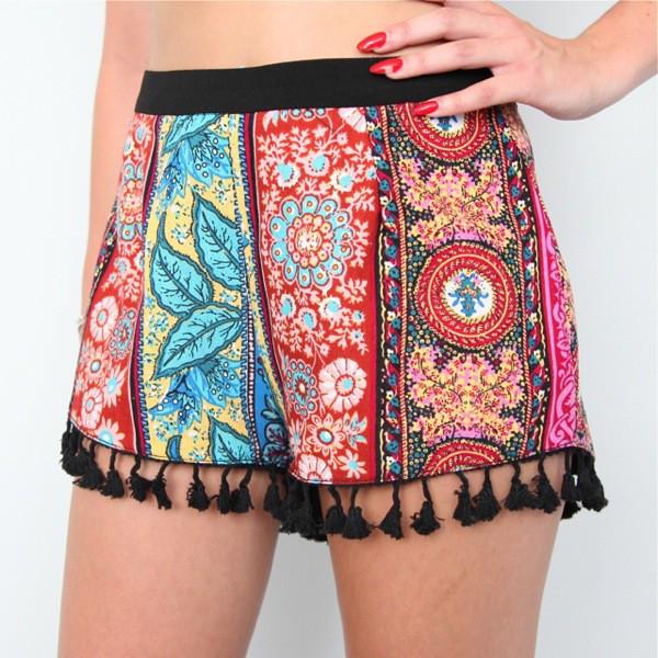 boho style shorts boho hippie shorts