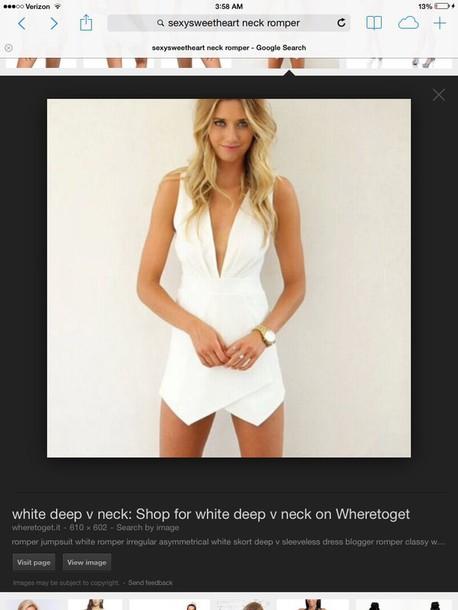 romper white romper jumpsuit