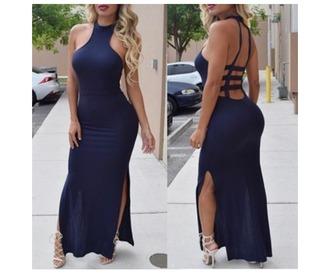 dress blue dress blue navy blue dresses dark navy blue dress royal blue halter dress halter dress black black dress helpmefindthisplease