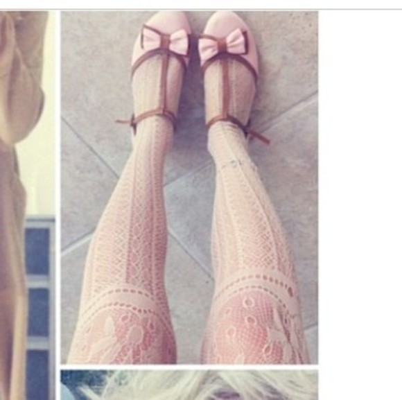 pink pastel shoes flats cute underwear kawaii bows