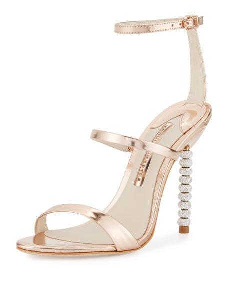 Sophia Webster Rosalind Crystal-Heel Leather Sandal