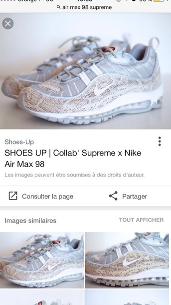 shoes, nike air max 98 supreme Wheretoget