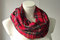 Spring 2014 red plaid infinity scarf