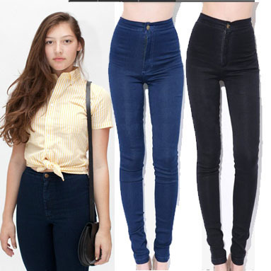 2013 women vintage American Apparel high waist easy jeans pencil Stretch Denim acid wash snowflakes pants botton plus size-in Leggings from Apparel & Accessories on Aliexpress.com