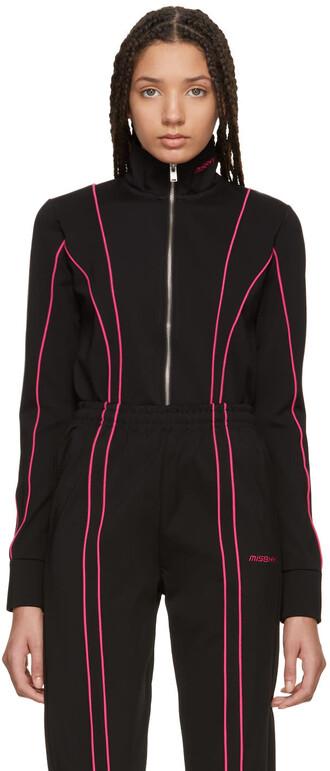 jacket black pink black and pink