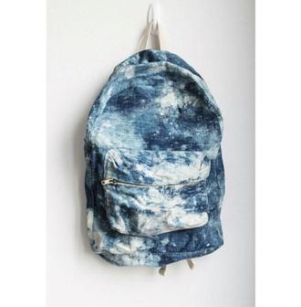 bag blue sea galaxy backpack zip tumblr stylish girly denim