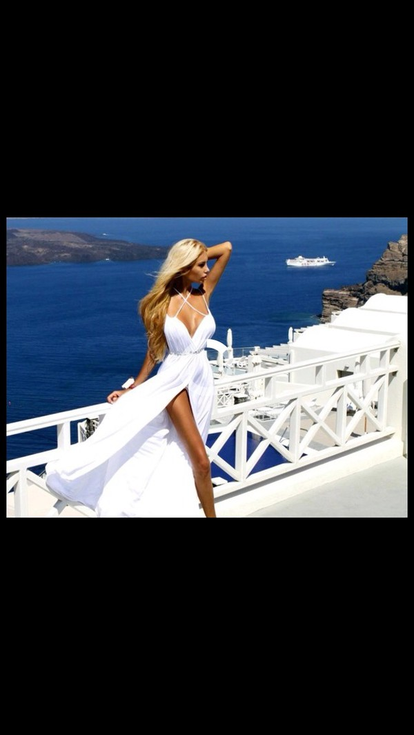 dress maxi maxi dress white maxi dress white dress white fashion clothes summer dress