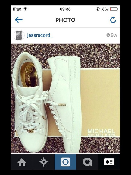 sneakers trainers michael kors shoes micheal kors leather shoes white leather pants designer