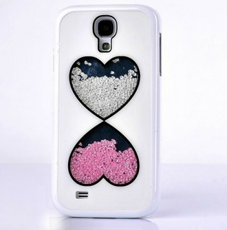 heart phone case diamonds technology