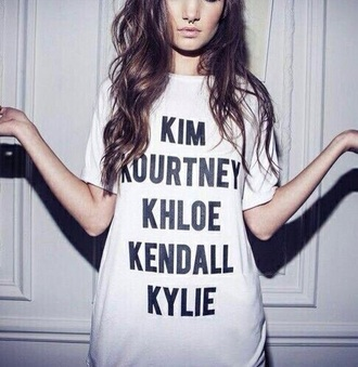 shirt kendall jenner kylie jenner khole kardashian kim kardashian kourtney kardashian