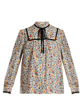 top floral cotton print