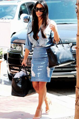 skirt shirt kim kardashian shoes