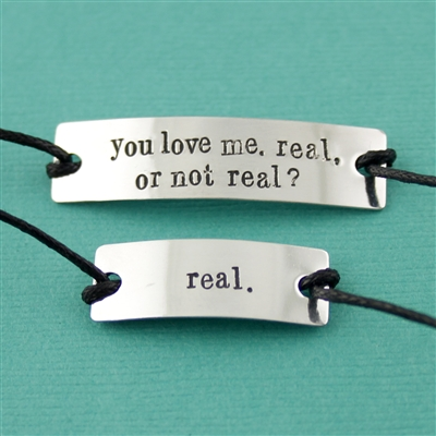 Hunger games real or not real cotton cord bracelet set