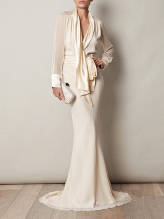 ivory dress gown