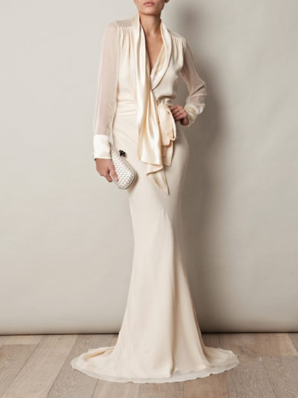 gown ivory dress