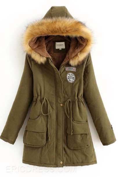 coat cotton with furry hood all new
