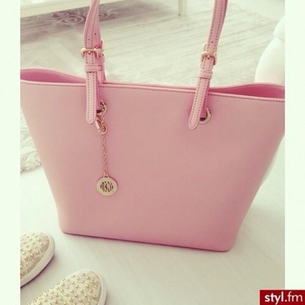 bag pastel pink