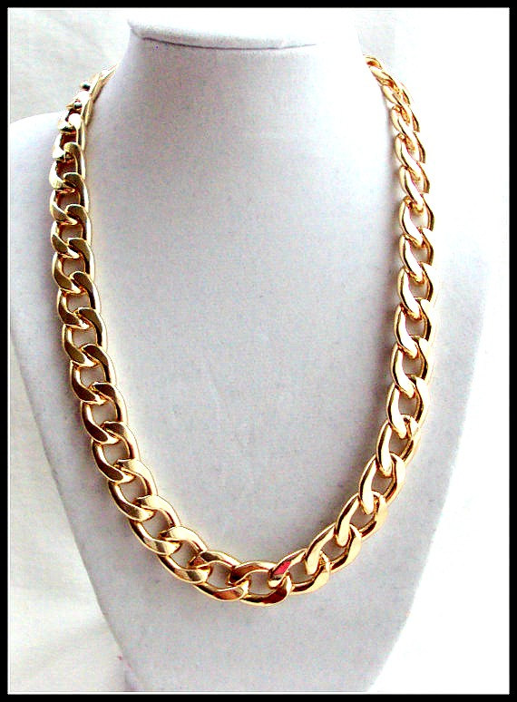 Gold Chains For Sale >> Sale Gold Chain Necklace Gold Chain Link Necklace Chunky By 4yjd