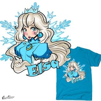 shirt t-shirt frozen disney nintendo peach