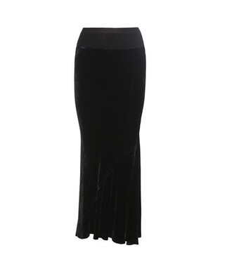 skirt maxi skirt maxi velvet black
