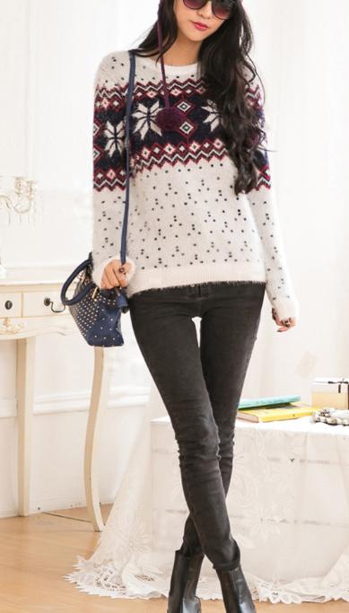 Cute fashion sweater hot