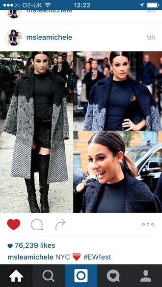 coat lea michele wool coat winter coat chevron optical designer