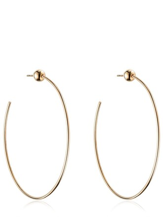 earrings hoop earrings rose gold rose gold jewels