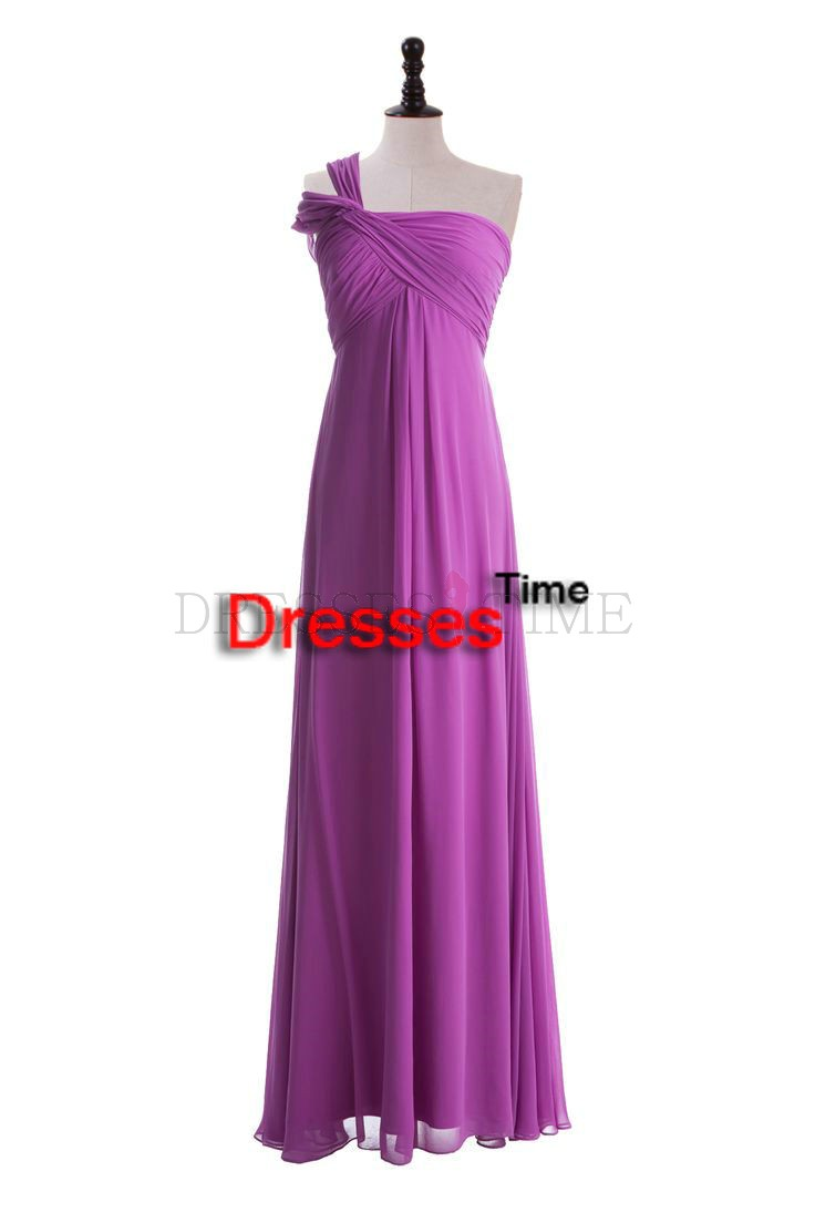 Buy sheath one shoulder ruched chiffon cheap long wedding for Long wedding dresses under 100