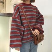 sweater,ulzzang,cute,jumper,red