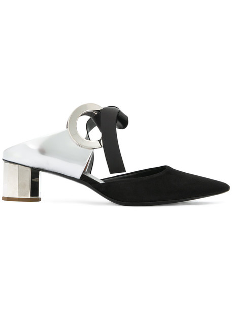 Proenza Schouler women mules leather suede black shoes
