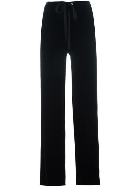 theory women black silk pants