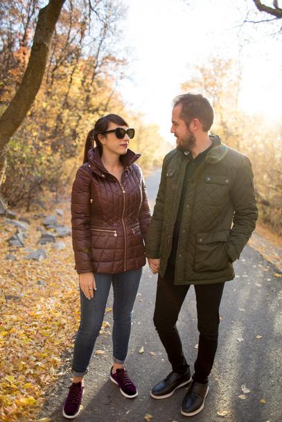 kelsey bang blogger jacket shirt jeans shoes pants sunglasses make-up fall outfits mens jacket menswear
