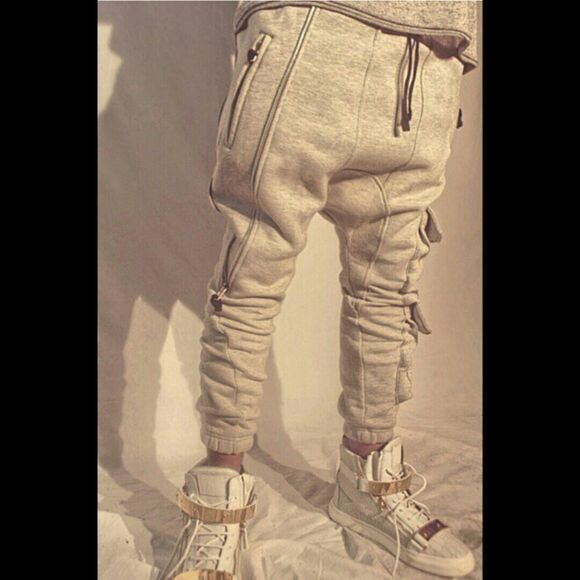 swag hipster jogger grey pants