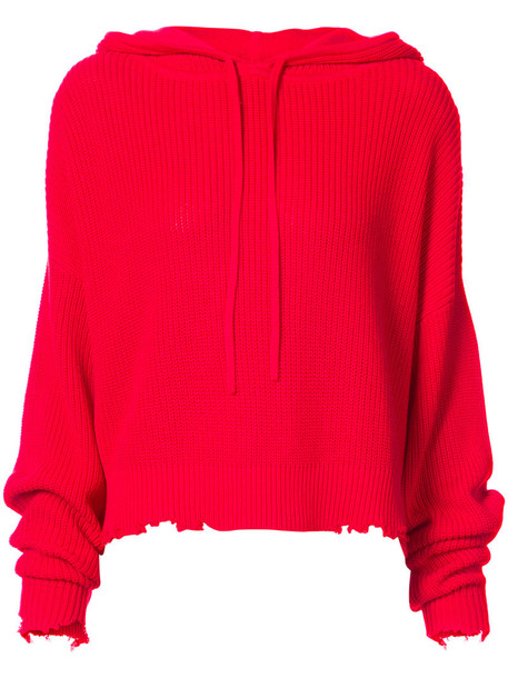 rta hoodie women cotton red sweater