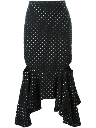 skirt peplum skirt black