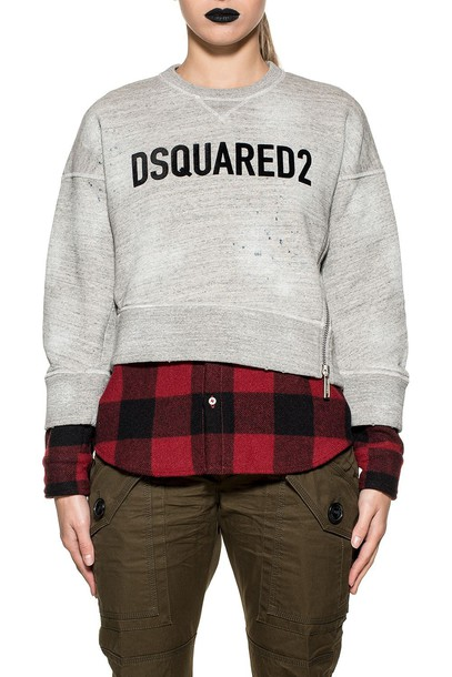 Dsquared2 sweatshirt black red sweater