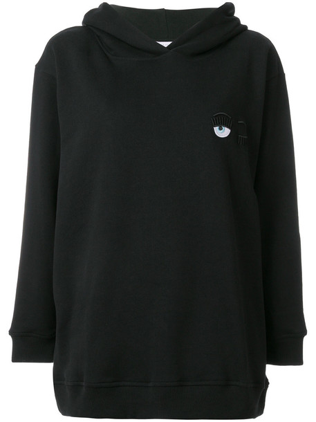 Chiara Ferragni hoodie long women cotton black sweater