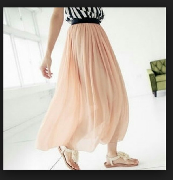 Blush Pink Maxi Skirt - Shop for Blush Pink Maxi Skirt on Wheretoget